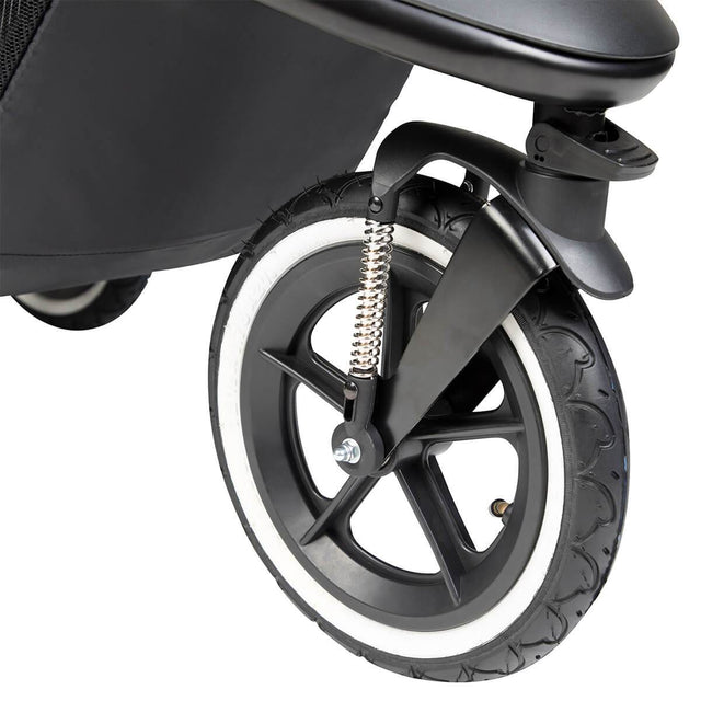 phil&teds sport buggy air filled tyres designed for terrain jogging_charcoal