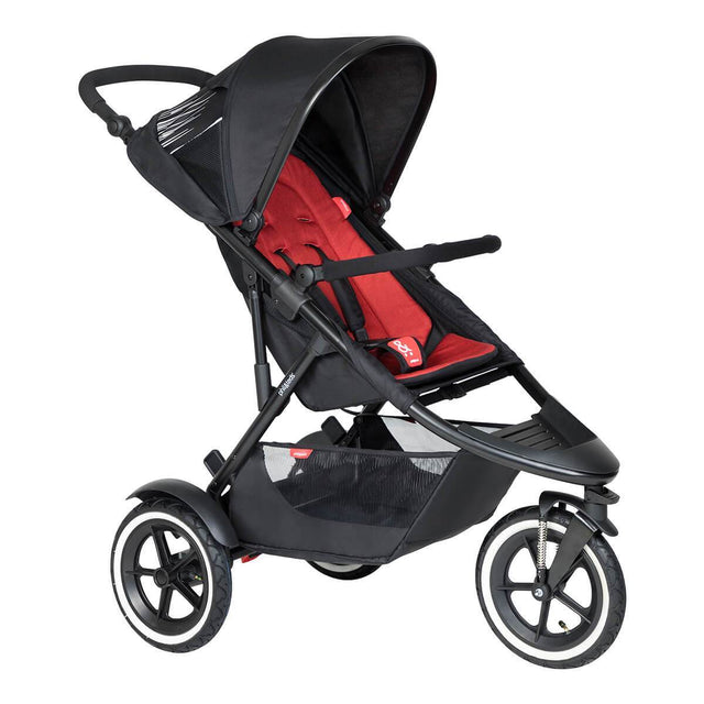 phil&teds inline  sport  buggy de couleur rouge piment