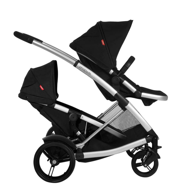 phil&teds promenade buggy with double kit side view_black