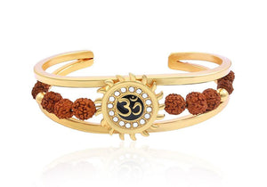 RK01- Unique & Stylish Brass Gold Plated Bracelet for Men / Women (RK01)