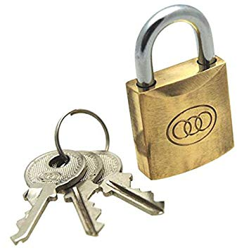 Speed 25mm gold plated padlock
