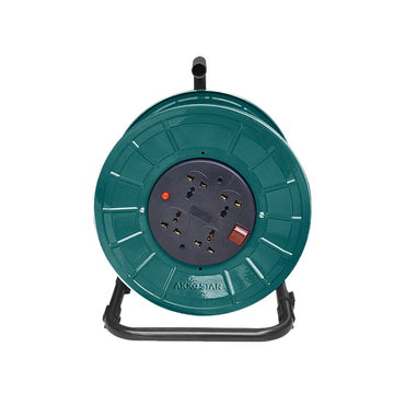 Akkostar Extension Cable Reel 4 outlet sockets with 25m cable