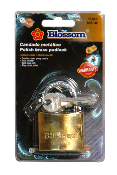 Blossom 40mm Brass Padlock