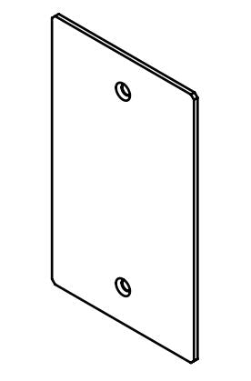 Legrand Evolution Series EFB6 Floor Box Blank Device Plate