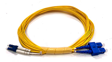 FS LC/UPC-SC/UPC Duplex OS2 SM PVC 2.0mm Fiber Optic Patch Cable