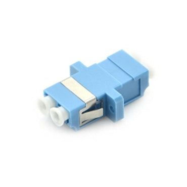 FS LC/UPC-LC/UPC Duplex SM Fiber Adapter with Flange