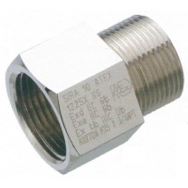 Raxton Metric Exe/Exd Adaptor Nickel Plated