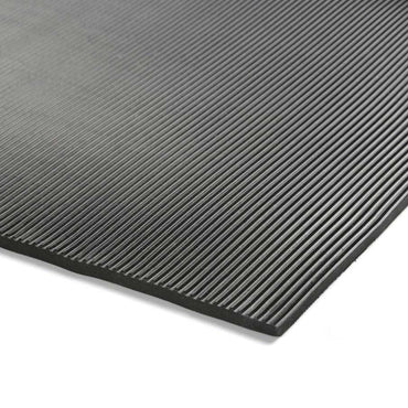 Coruba Ribbed Black Rubber Matting to 1000v Working / 10,000V tested (3mm x 10m)
