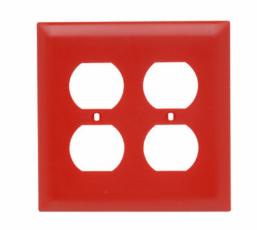 Legrand Duplex Receptacle Openings, Two Gang, Red