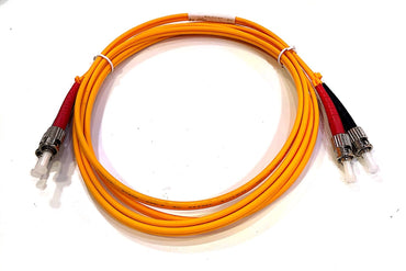Ultima ST-ST Duplex OS2 SM PVC 3.0mm 2 meter Fiber Optic Patch Cable