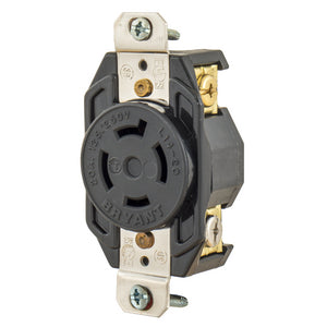 Bryant 20A Twist-Lock Single Nylon Receptacle