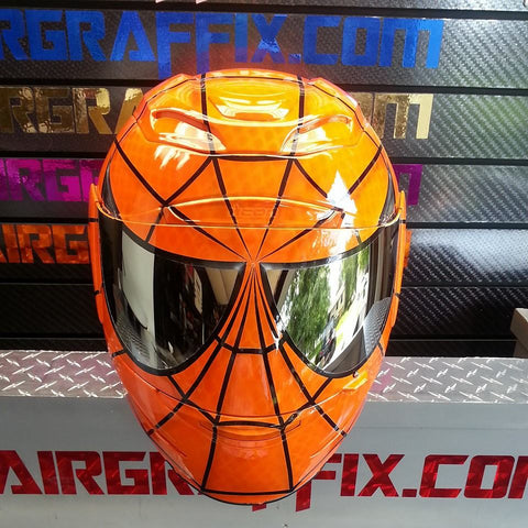 Orange Spiderman Helmet