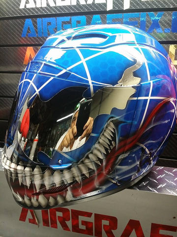 Blue Carnage/Spiderman Mutation Helmet