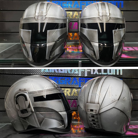 Airgraffix Custom Painted Mandalorian helmet
