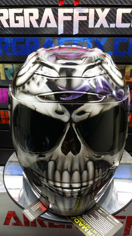 Skull With Purple Truefire and Bow