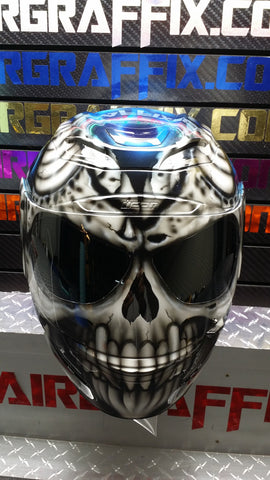 Skull with Blue Truefire