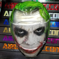 Joker Helmet Custom Painted