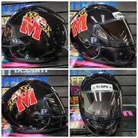 Maryland Terps Custom Painted Airgraffix Motorcycle Helmet