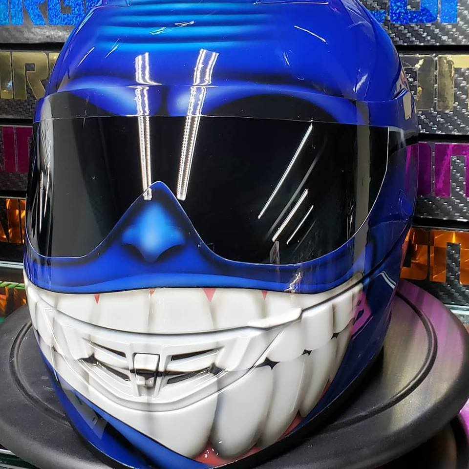 Blue Smiling Face Helmet