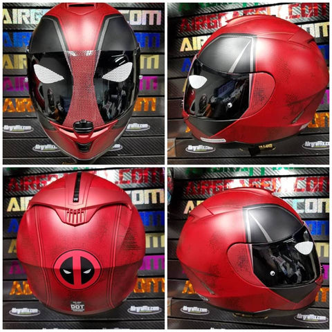 HJC Deadpool Helmet with Custom Shield