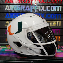 Miami Hurricanes Original Custom Painted Airgraffix Motorcycle Helmet