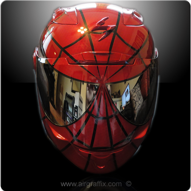 Red and Black Spiderman Helmet
