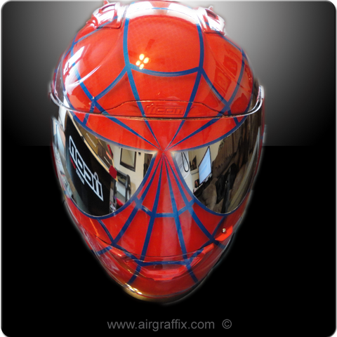 Red and Blue Spiderman Helmet