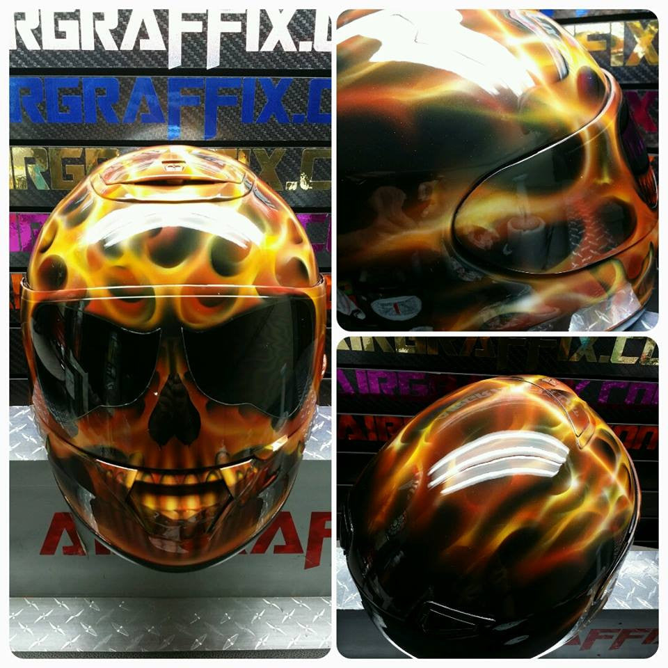 TrueFire Flaming Skull