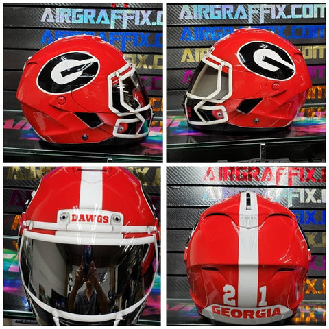 Georgia Bulldogs Custom Painted Airgraffix Motorcycle Helmet