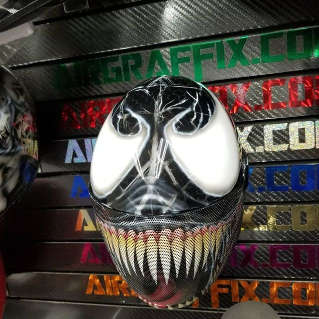 Venom Design Custom Painted Large Cookie G4 Helmet