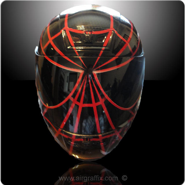 Black and Red Spiderman Helmet