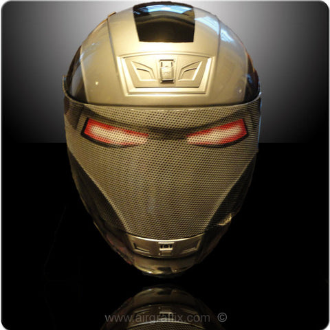 Black And Silver War Machine Ironman Helmet
