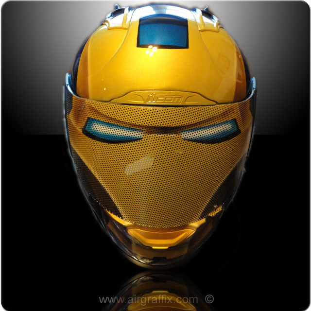 Blue Ironman Helmet