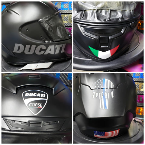 Custom Ducati design on Shoei X-14