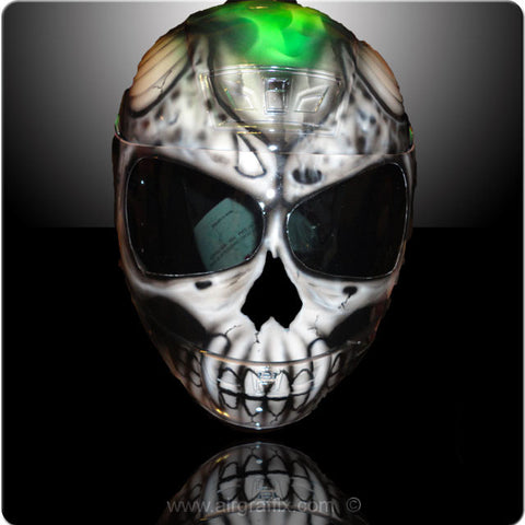 Skull with Green Truefire