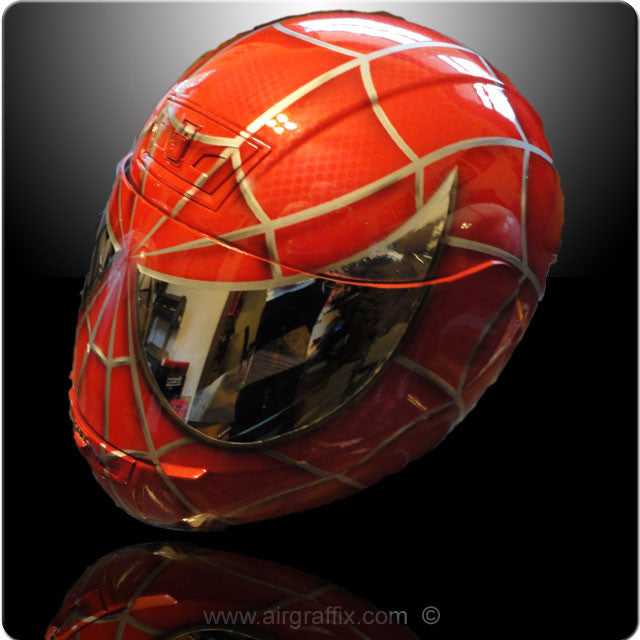 Spiderman Helmet Custom Painted