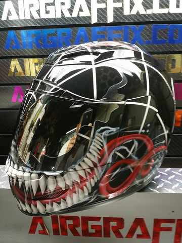 Venom-Spiderman Mutation 2018 Design Custom Helmet