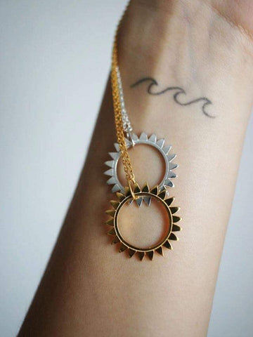 "Necklace ""Sunshine"" - Gold plated"
