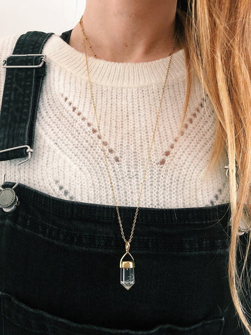 Collier « Crystal » - Doré ✨