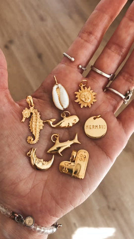 Pendentifs charms - Plaqué or 18k