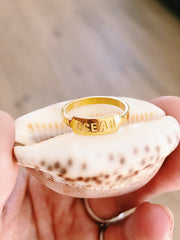 "Ring ""OCEAN"" - Gold plated"