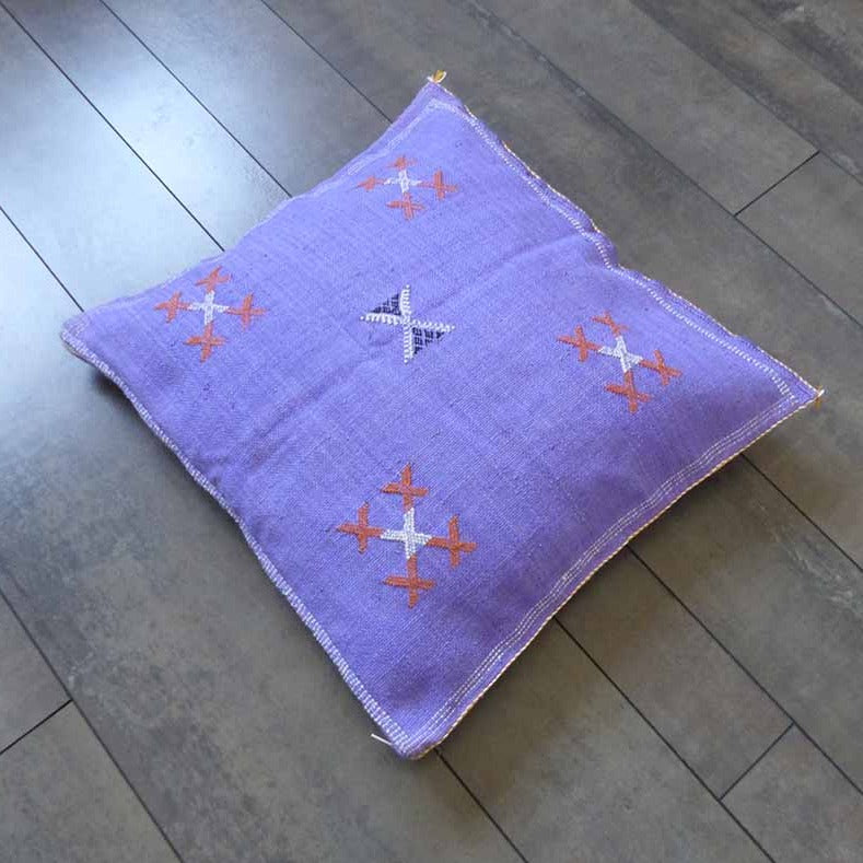 coussin marocain violet
