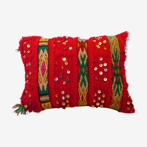 coussin berbere rouge