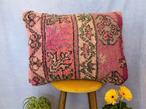 Coussin Boujaad Rose | Coussin vintage | MAZIR