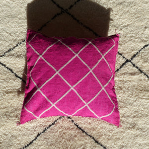 Coussin marocain rose