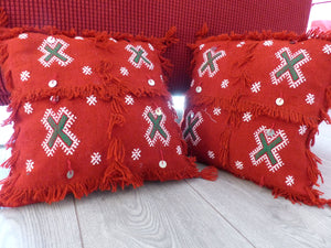 coussin marocain rouge