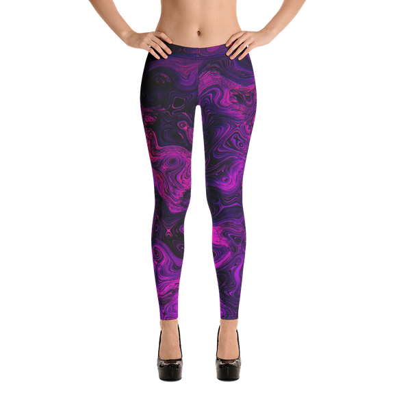 Athleisure Purple Haze Leggings - Yoga Pants