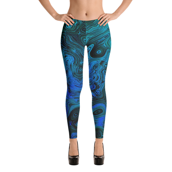 Athleisure Blue Haze Leggings - Yoga Pants
