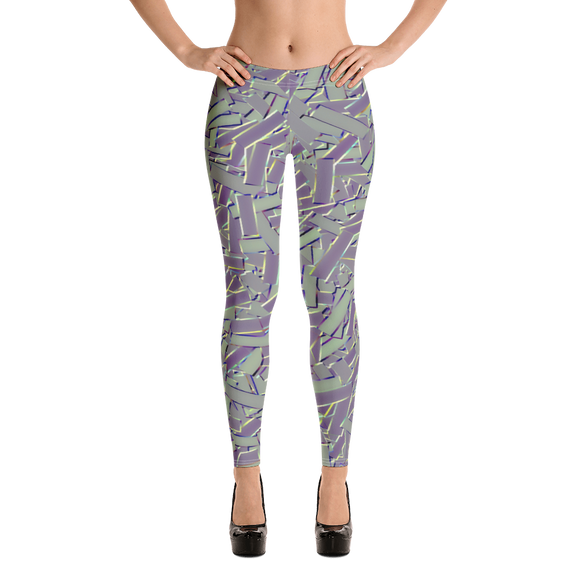 Athleisure Geometric Pattern Leggings