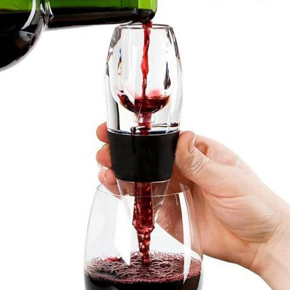 Red Wine Aerator Mini Filter Magic Decanter Essential Wine Quick Aerator Wine Hopper Filter bar Essential Equipment Set